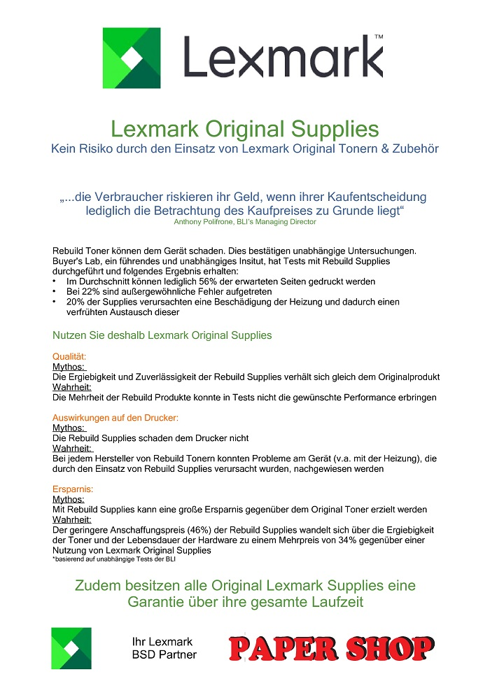 Flyer LexmarkSupplies